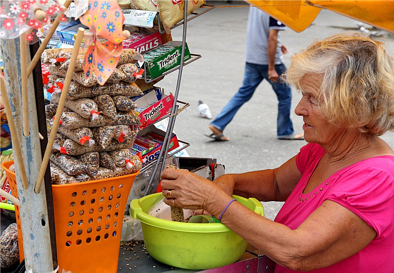 Selling pigeon food