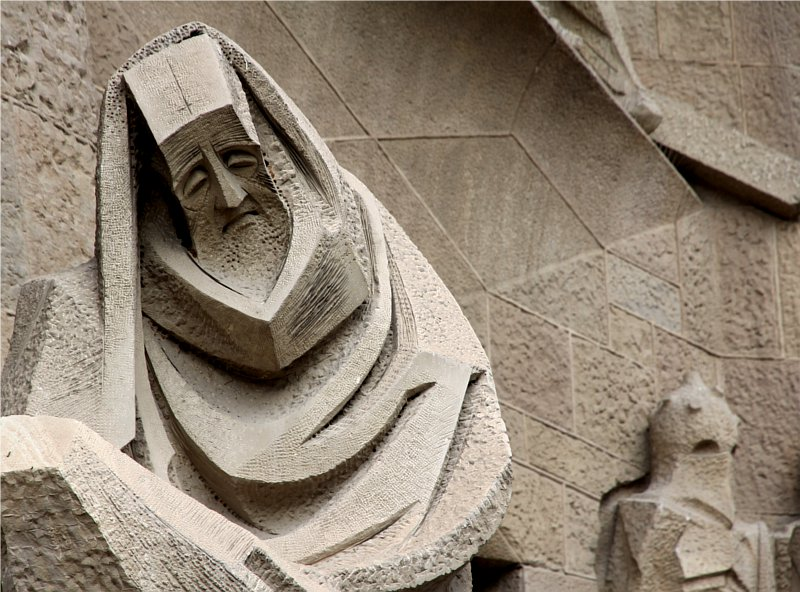 Statue at Sagrada Familia